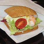 エクセルシオール カフェ - 料理写真:モーニング Bセットの エビとツナタマゴ