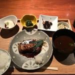 手作り料理とお酒 えん - 鮪ハラモ山椒醬油の照り焼き御膳(1380円)