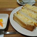 菜の花 ムーンカフェ - たまごサンド650円     ピクルス上品だけれど  ちょっと寂しい