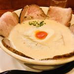 ラーメン家 みつ葉 - 料理写真:しおチャーシューメン♫  本当はチャーシューを綺麗なお花みたいにしたかった(^^)