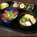 デリシャス ダイニング サカイ - マグロ丼うどん定食