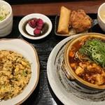 華や - 土鍋麻婆豆腐セット(炒飯変更)