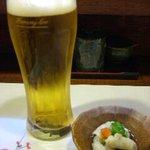 酒菜 和寿 - 付だし・生ビール ¥400