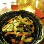 酒菜 和寿 - 突き出しの根菜きんぴら
