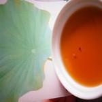 蓮の葉茶プリン