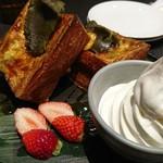 WIRED CHAYA - 苺と抹茶玉露餡のプレミアムフレンチトースト
