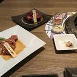 北海道焼肉 プライム - じんぎすかん680円、牛レバー730円