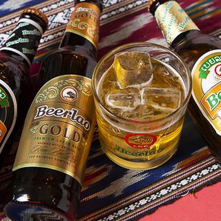 ラオスで最もメジャーなビール「ビアラオ」で乾杯!ご宴会にも◎