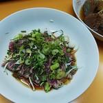 国乃長 - 牛ももたたき、煮込み豆腐