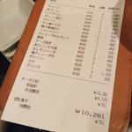 ネリマノたく庵 - 席料は100円です(お通し無し)