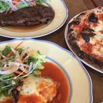 101025564 - マルゲリータ(M)&サービスステーキ&若鶏のチーズ焼き