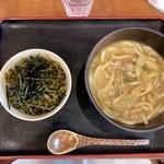 富貴堂 - 料理写真:カレーうどん+ミニ丼 ランチセット850円