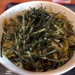 富貴堂 - 高菜明太子のミニ丼です
