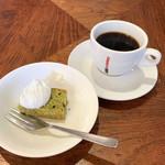 101031168 - ランチのデザートとコーヒー