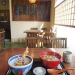三稜 - 料理写真:天丼付き かけ