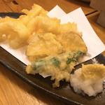 そばくろう - ●○水イカの天ぷら○●