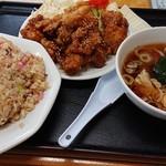 御食事処 大幸 - 料理写真:鶏の唐揚げセット