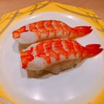 寿しの魚常 - むし海老180円