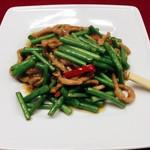 豚肉とニンニクの芽炒め/豚肉と野菜炒め/ユーリンチー