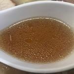 白河手打中華 賀乃屋 - スープ
