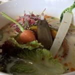 農村食堂 里のカフェ - 豆乳鶏白湯うどん