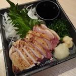 炭火焼き 煙 - 丹波地鶏のモモ肉たたき780円
