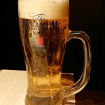 炭火焼き 煙 - 生ビール(プレモル)