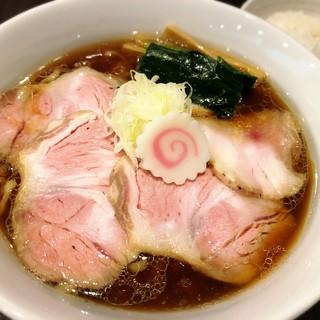 櫻井中華そば店 - 料理写真:生姜醤油中華そば(麺大盛、チャーシューを追加トッピング)