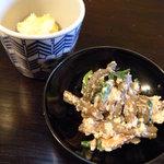 農家レストラン 土風里 - わらびの白和え キノコの和え物