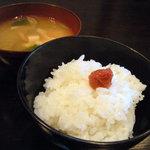 農家レストラン 土風里 - ひとめぼれ新米 きのこのお味噌汁