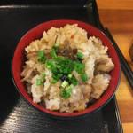 麺屋 太陽 - 「とりの炊き込みご飯150円」