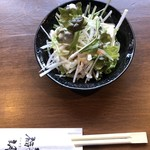 福朗 - 料理写真:だいこんサラダ。ドレッシングはシーザー、ごま、青じそから選択。