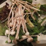 海鮮屋 鳥丈 - 菜物 八種の青菜の楽や元気野菜サラダ