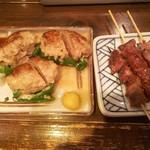 ゑびすや - ピーマンの肉詰め200円、砂肝100円♪