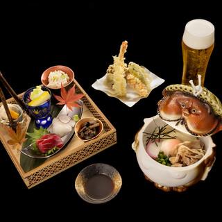【花山うどん】の美味しさを堪能できる各種コースをご用意