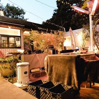 【肉テラス】屋外にテーブルこたつ席登場!BBQを楽しもう!