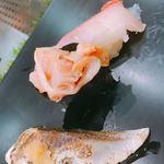 101075437 - 炙りさば、赤貝ひも、金目鯛②