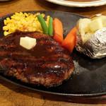 101081354 - 牛肉100%炭火焼ハンバーグ1000円