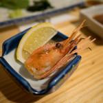 酒喰洲桜井水産 - ボタン海老の頭