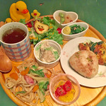 カフェ パンプルムゥス - 冬野菜のごちそうパンケーキ