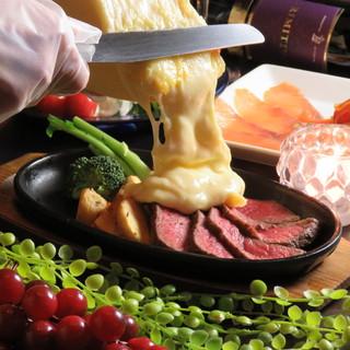 スイス産☆牛ステーキdeラクレットチーズ