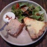 10109781 - キッシュプレート:里芋とブロッコリーのキッシュ
