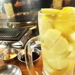 ホルモン・焼肉 リキヲ - ドリンク写真:無農薬・ノーワックスのレモンサワー♪