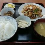 大衆食堂 若葉 - 料理写真:ねぎ肉定食