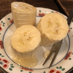 カフェ・デ・プリマベーラ - バナナの蜂蜜かけ