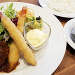福菱 Kagerou Cafe - ハンバーグ&エビフライ