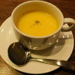 ハラカラ。 - 平日限定セットの豆乳で作ったかぼちゃスープ(温)