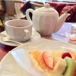 キル フェ ボン - 紅茶はポットだからたっぷり頂けます。
