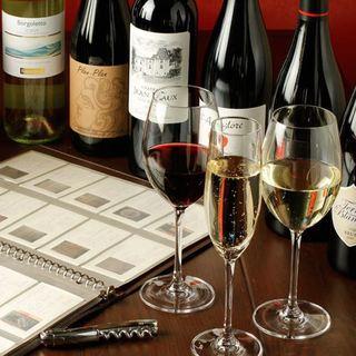 フランス産100%のワインリスト