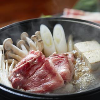 贅沢佐賀牛ロース使用こだわり割下佐賀牛鍋リーズナブルにご提供